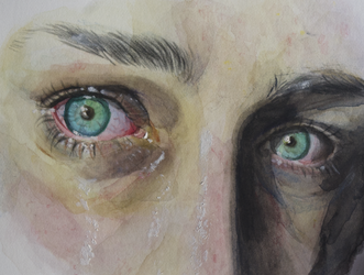 Watercolors study - eyes by BlackBy