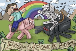 Minecraft fun by gorrin