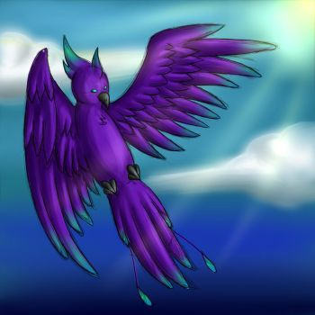Purple Phenix by cryptic2