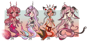 [OPEN] mermen adopts 2/4 by GloomyFawn