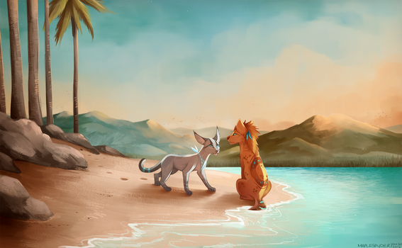 Beach by MapleSpyder