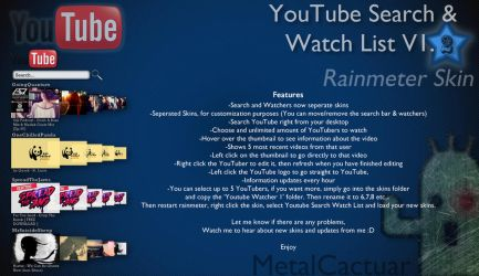 YouTube Search/Watch List v1.2 by MetalCactuar