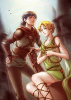 Hero and Bard by Mincelot