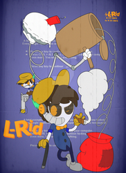 L-Rid in 1930's Art Style (with color) by L-Rid