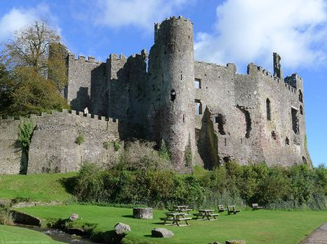 Laugharne Castle, South Wales by bobswin