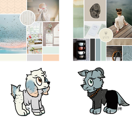 (CLOSED) Mystery Moodboard Adopts Calm Duo by PoppyWolfMoon