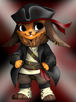 Bunny pirate by WibbleyWobbleys