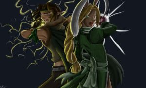 Combo Attack - Numair and Fyfe by ayarane