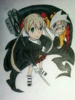 soul and maka:colored by XFakeFate