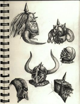 Chaos Helmets by AshVanGuard