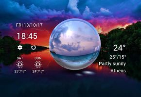 Crystal Style Weather for xwidget by Jimking
