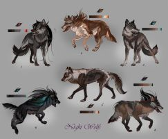Wolfpack Night Wolfs (closed) by Furrirama