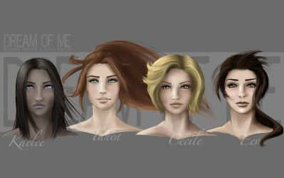 DoM - Ladies portraits by AerynDiana