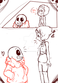 Pearl X Sans by Pichulover20