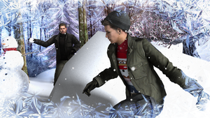 Snowfight by Piers-Michaelis