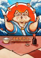 the cat who loved sushi... by Pendalune