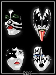 KISS POP CULTURE POSTER by Thuddleston