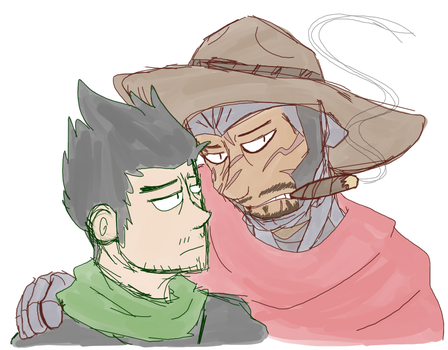 Cycree AU doodle by Spychedelic