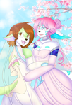 Wedding Day - Iris and Midori by chainilla