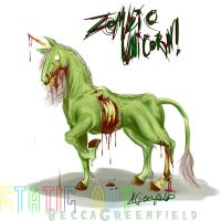 ZOMBIE UNICORN by staticroulette