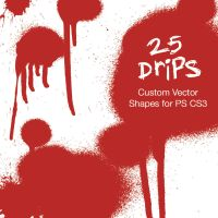 25 Drips - Custom PS CS3 Shape by SynergyDigital