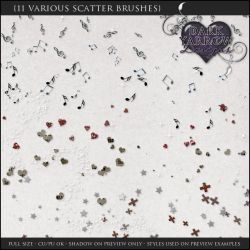 11 Various Scatter Brushes by Dark-Yarrow