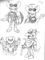 Sonic: The GUN Project - concept sketches 2 by Chauvels