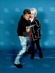 Me and Vic Mignogna by Londonexpofan