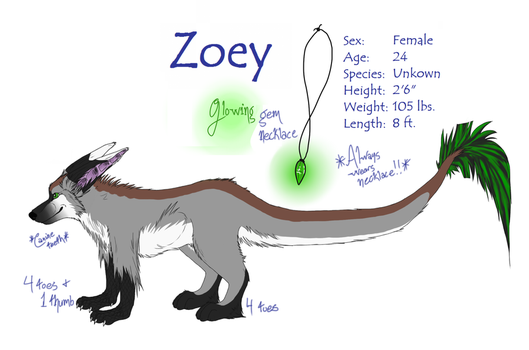 Zoey Reference 2012 by scamper696