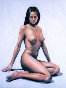 Nude study in oils 1 by chrismund04