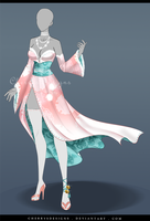 (closed) Outfit Adopt 642 -  Benzai-Ten by CherrysDesigns