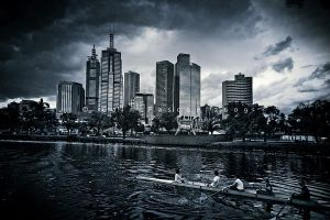 Rowing In The City by CainPascoe