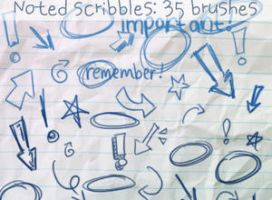 Noted Scribbles Brushes by ibeliever