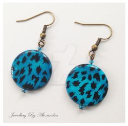 Blue Shell Earrings by WhiteMagicPriestess