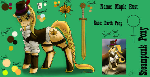 {Steampunk Pony} Maple Rust Reference Sheet by ScarletsFeed