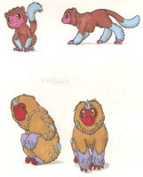 Fakemon- Ice Monkies by DarkKitsunegirl