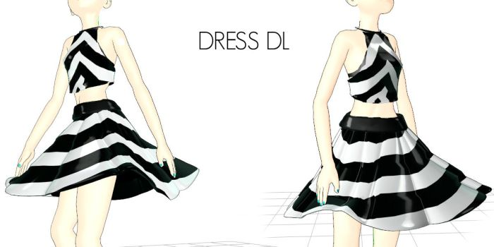 Stripe dress DL by Kaycloset