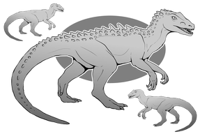 P2U Theropod Base Pack by SoulsplosionAdopts
