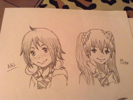 Aki and Mino sketch by WritingwithHearts