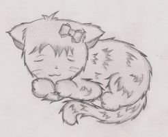 cat sleeping by Suu-s-c