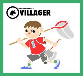 Smash Vectors: Villager (color) by TriforceJ