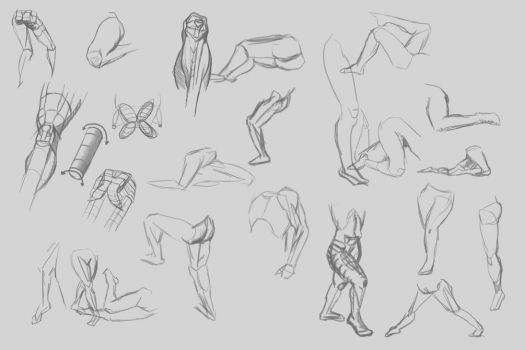 Studying legs sheet 1 by lewislong