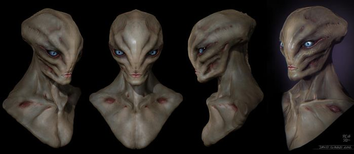 Female Alien by mojette