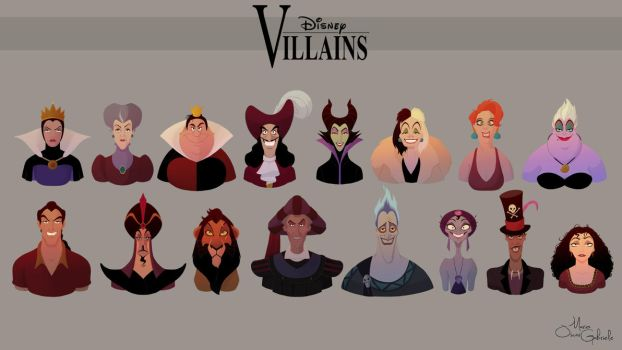 Disney Villains Collection work in progress by MarioOscarGabriele