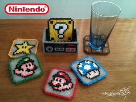 Super Mario Bros. Coasters by RockerDragonfly