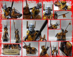 Cabaliere Imperiale Calenzano 1325 Papercraft by Mironius