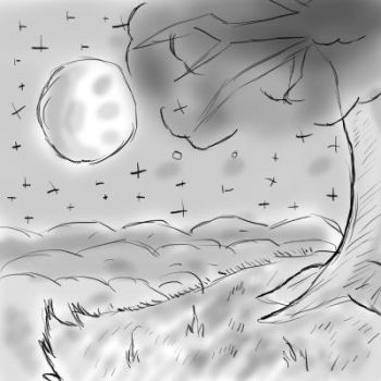 Nighttime Loneliness (Sketch) by redhatkid09