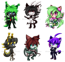 Chibi Batch for SLYMaster58 by Shannohn