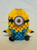 Despicable Me Minion 3D Origami by pandanpandan