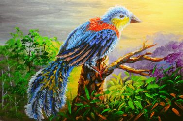 BLUE BIRD DURING SUNRISE by beejay-artlife12